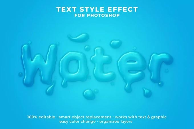 Water PSD Text Effect
