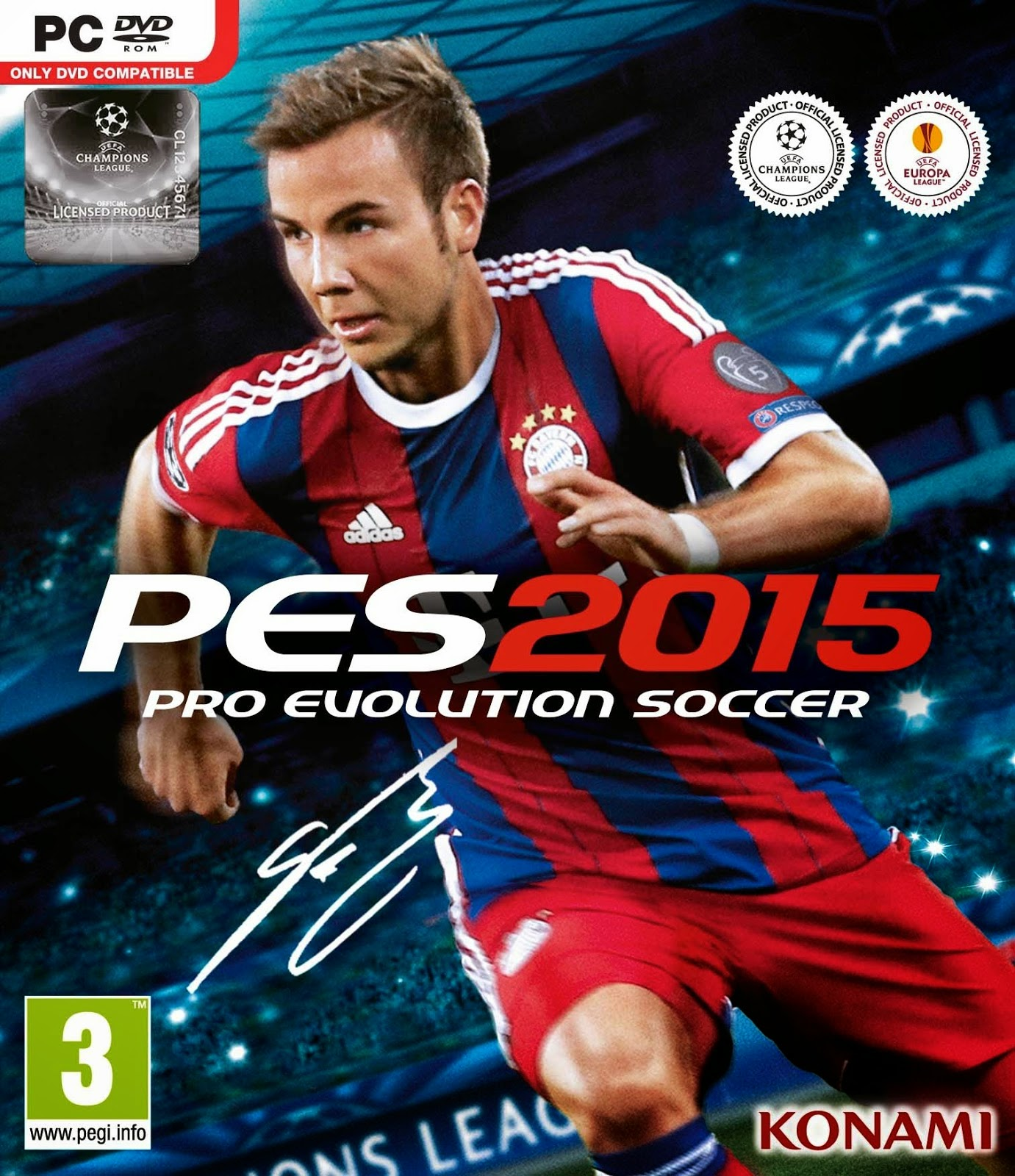 Pro Evolution Soccer 2015 PC Cover Caratula