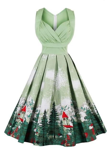 https://www.rosegal.com/vintage-dresses/christmas-vintage-forest-print-ruched-pin-up-dress-1445043.html