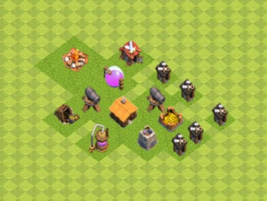 Base COC TH1 Trophy