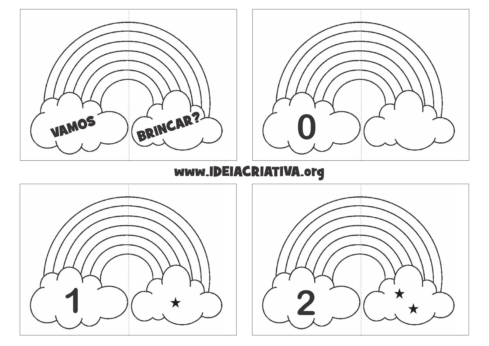 Jogo Pedagógico Arco- íris Número E Quantidade Para