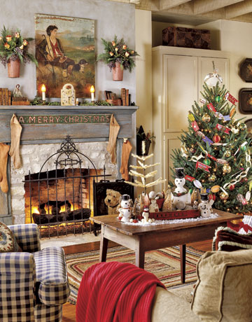 Merry christmas christmas decorating themes for your room - How to decorate living room for christmas ...