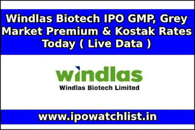 Windlas Biotech IPO GMP, Grey Market Premium