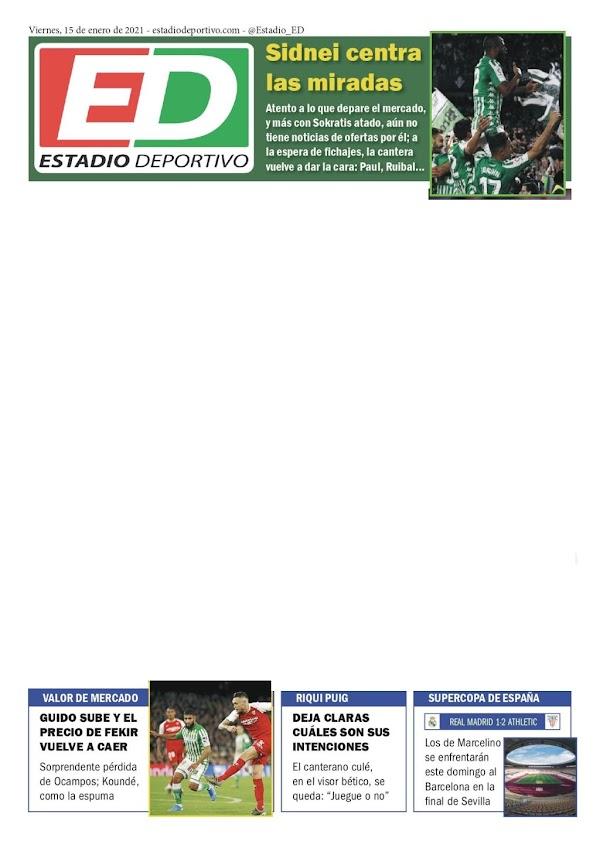 "Betis, Estadio Deportivo: ""Sidnei centra las miradas"""