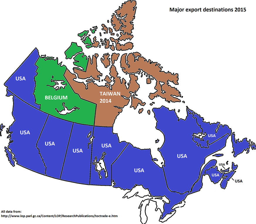 Each province (territory) Biggest Import Trading Partner