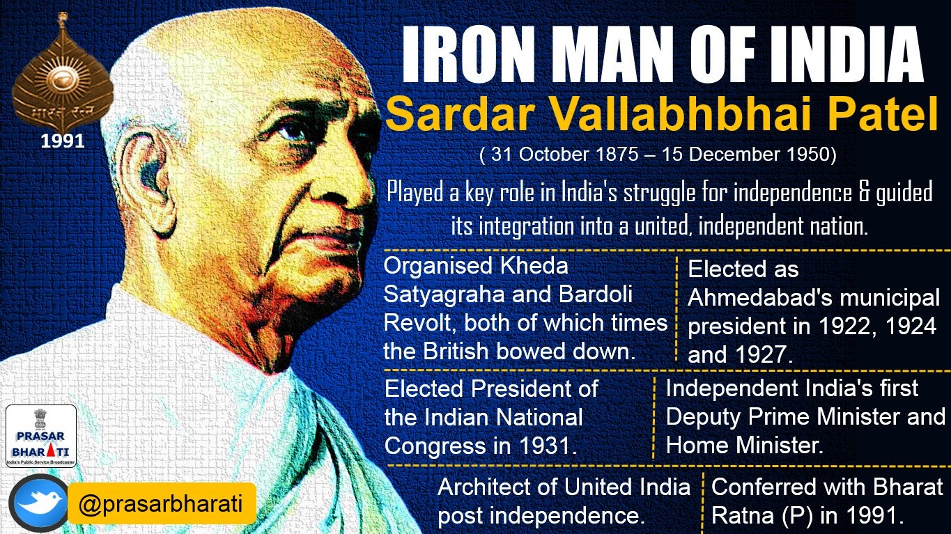 """essay on sardar patel the iron man of india """"we salute sardar patel on his jayanti his momentous service and monumental contribution to india can never be forgotten"""" it is with these words that prime minister mr narendra modi flagged off a run to commemorate the 142nd birth anniversary of the iron man of india, sardar vallabhbhai patel sardar."""