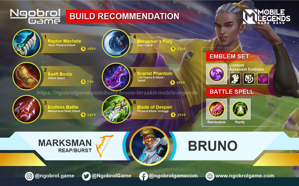 Build Bruno Top Global Tersakit Mobile Legends
