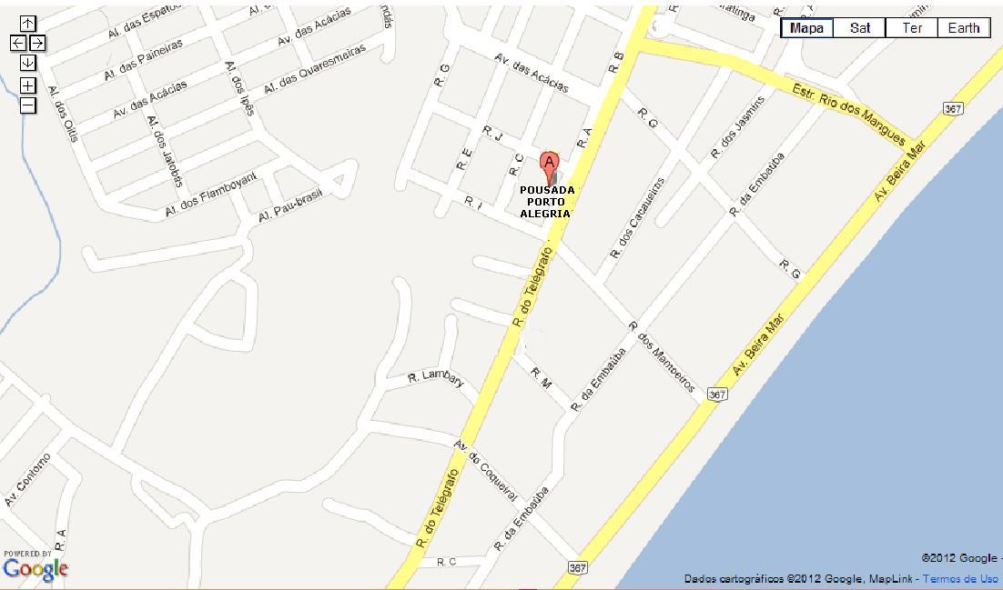 rua da alegria porto mapa Pousada Porto Alegria   Hoteis e Pousadas   Rua do Telegrafo, 1315  rua da alegria porto mapa