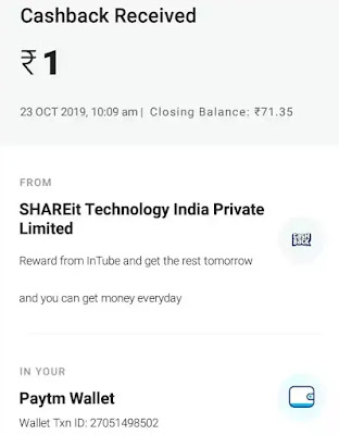 Antube paytm earning proof