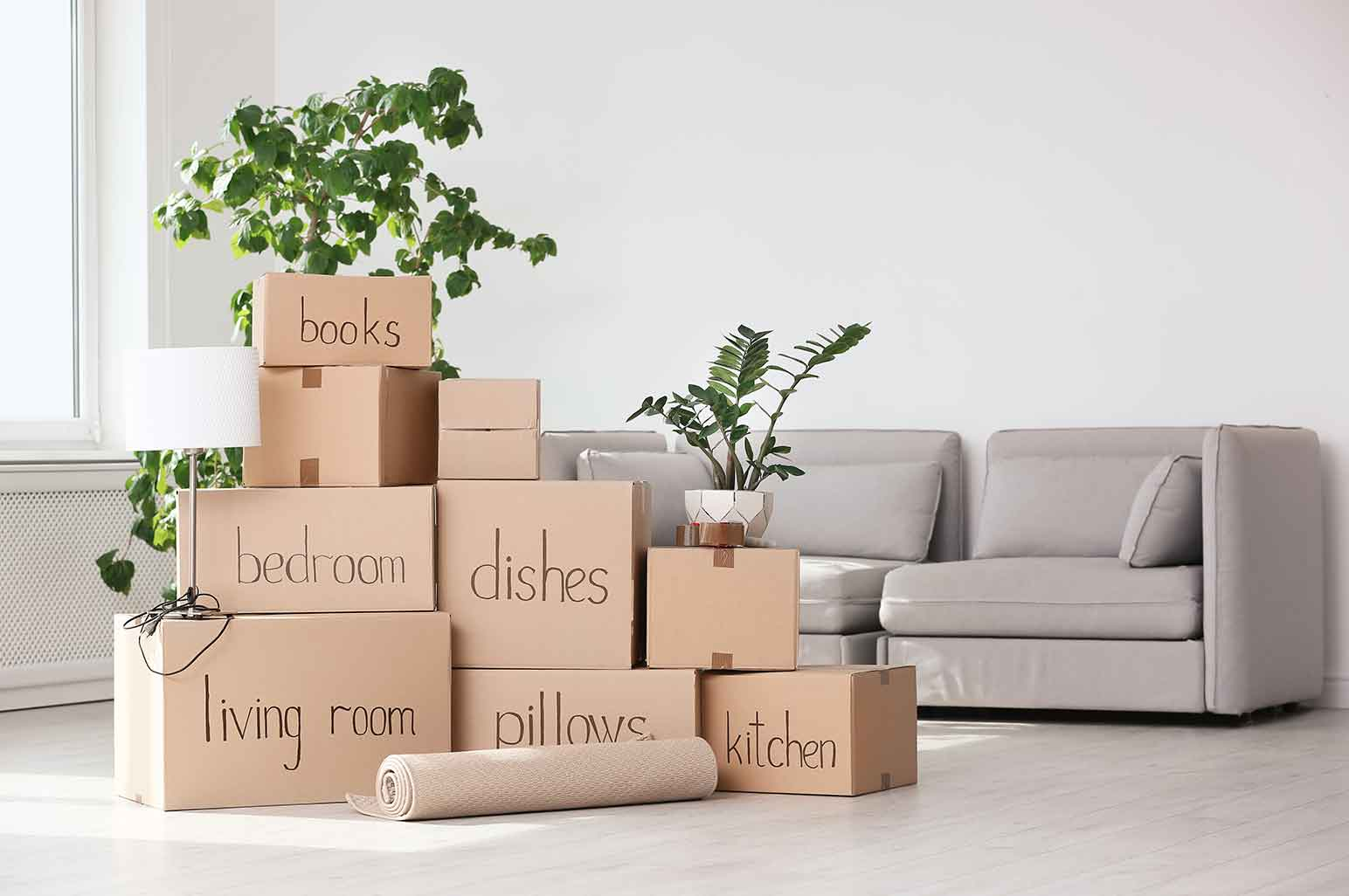 Moving Boxes - How to Maintain Your Home When You First Move In