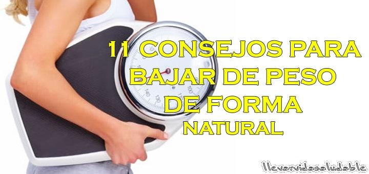 11 Consejos para bajar de peso
