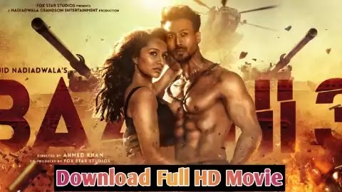 Baaghi 3 Movie Download in Full HD 720P by Filmyzilla Site.