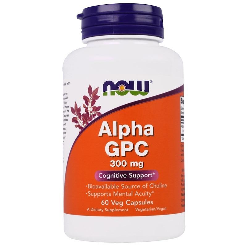 Now Foods, Альфа-GPC (альфа-глицерилфосфорилхолин), 300 мг, 60 капсул