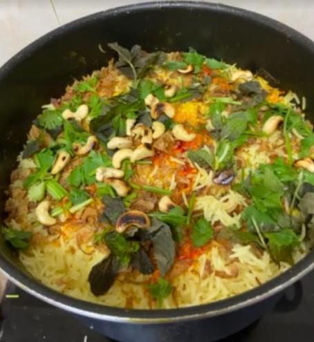 menu raya simple, sambut raya jauh, perantau, nasi arab sedap