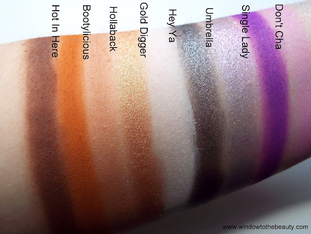 Bh Cosmetics Remix Dance 00's  swatches of shades
