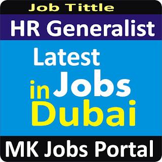 HR Generalist Jobs In UAE Dubai With Mk Jobs Portal