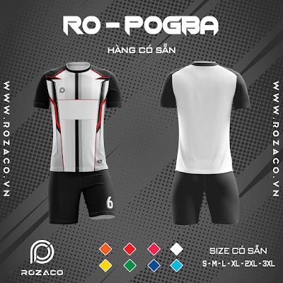Áo Không Logo Rozaco RO-POGBA Màu Trắng
