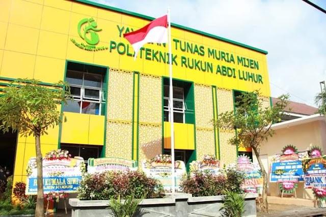 Plt. Bupati Kudus Resmikan Politeknik Rukun Abdi Luhur di Desa Mijen