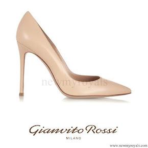 Queen Maxima wore Gianvito Rossi leather pumps