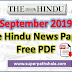 The Hindu Newspaper Pdf Download - September 2019