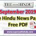 The Hindu Newspaper Pdf Download - September 2019