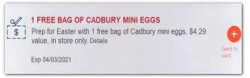 free cadbury eggs cvs coupon