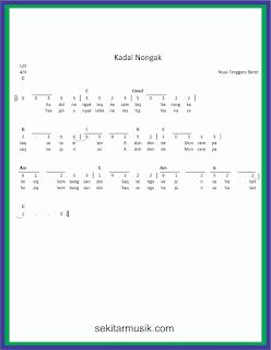not angka kadal nongak lagu daerah nusa tenggara barat
