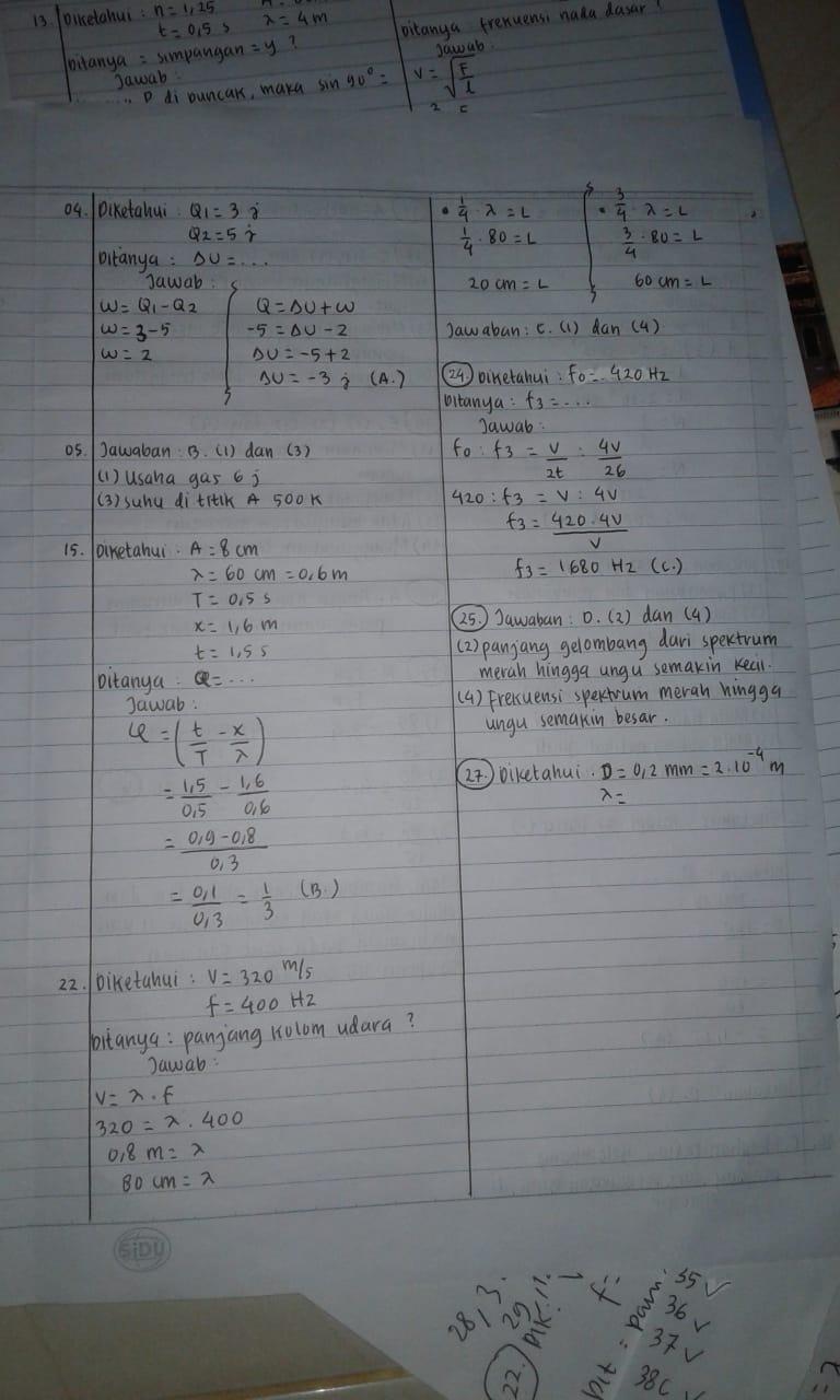 Soal UAS Fisika provinsi Lampung kelas 11 IPA - KELAS UMUM ID