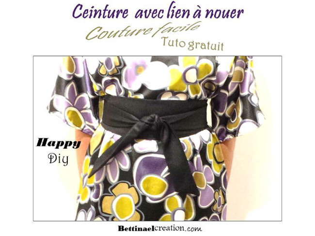 bettinael couture facile tuto gratuit cr25C325A9er son patron ceinture  large mouer avec lien diy fashion sewing 1e868f98ddd