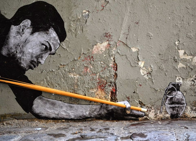 """""""Demineur"""" New Street Piece By French Artist Levalet In Paris, France. 2"""