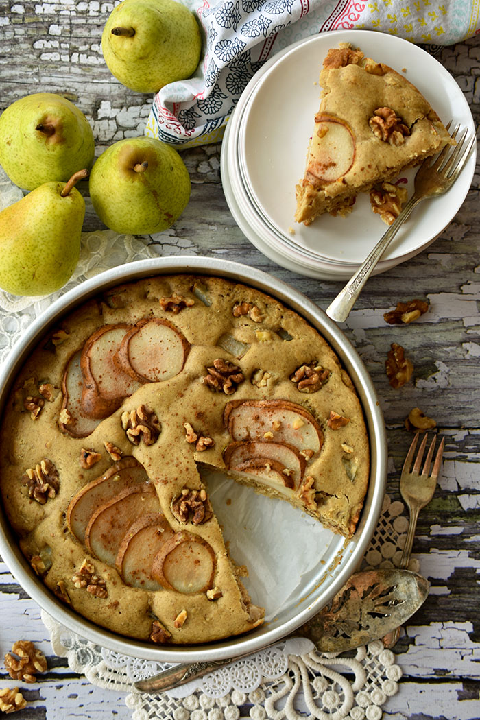 Easy Vegan Pear Cake Recipe