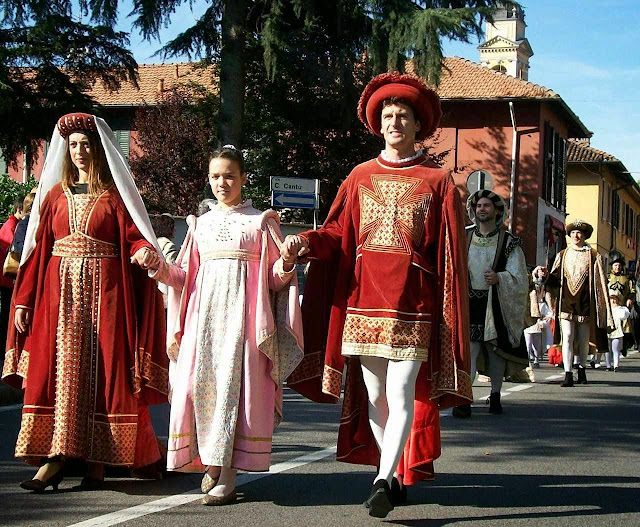 Gessate, Itália, grupo de famílias