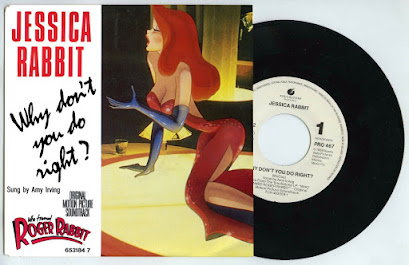 "Jessica Rabbit ""Why Don't You Do Right?"" vinyl 45 rpm record"