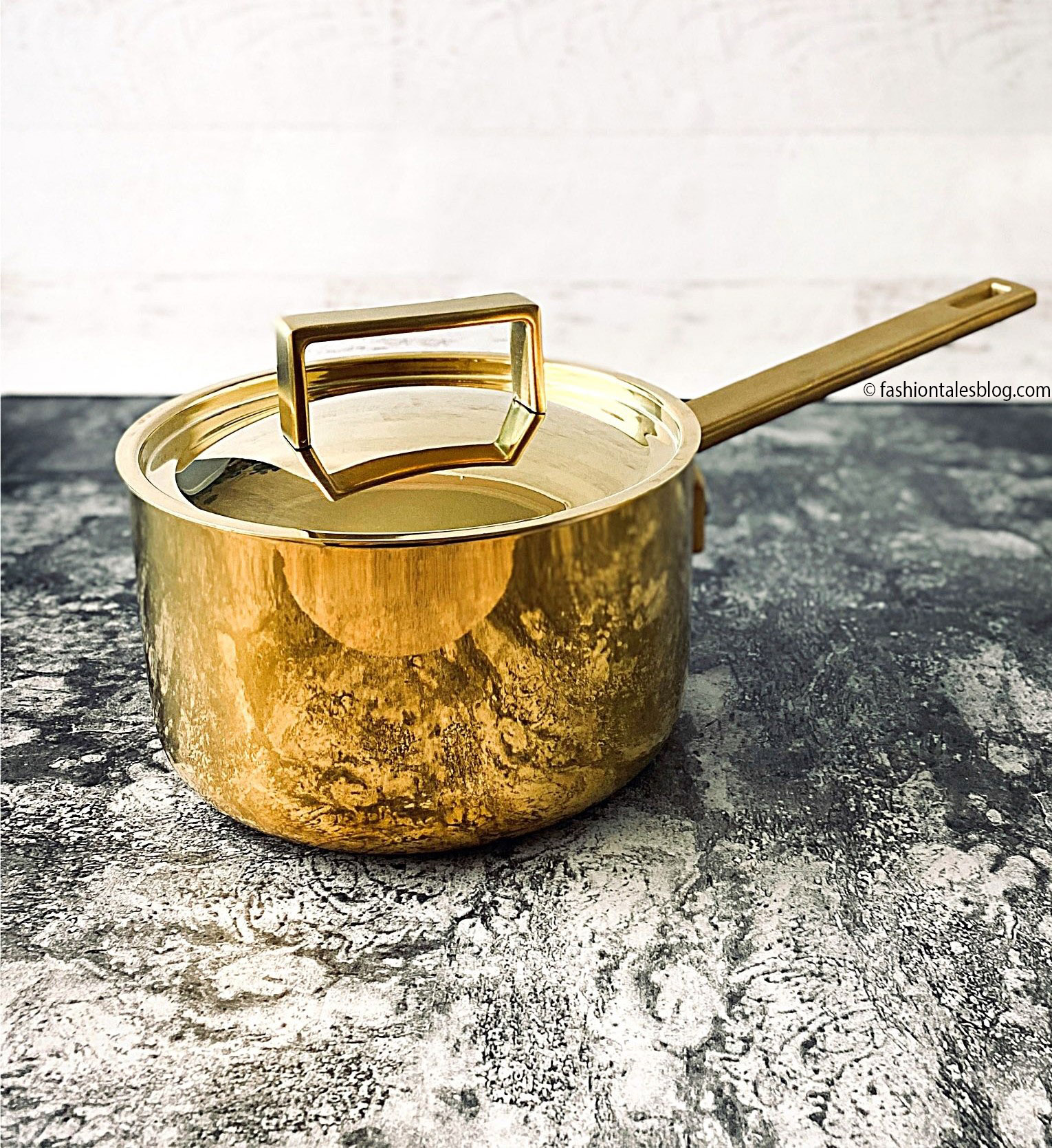 gold cookware luxury