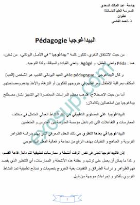 كتاب الديداكتيك مفاهيم و مقاربات ذ. أحمد الفاسي pdf