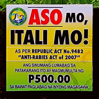 """Aso Mo, Itali Mo!"" (Keep your dog on leash!)"