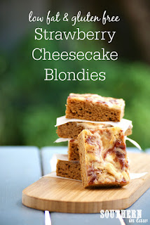 Gluten Free Strawberry Cheesecake Blondies Recipe