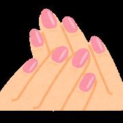 ネイルアートのイラスト(ピンク)