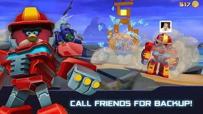 تحميل لعبة الطيور الغاضبة المتحولة Angry Birds Transformers النسخة المعدلة