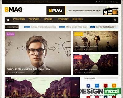 BMAG Magazine Responsive Premium Blogger Template
