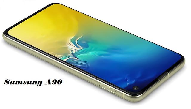 تم تزويد شاشة Samsung Galaxy A90 5G بتقنية Super AMOLED Infinity-U ، أو تصميم جديد لقواعد التسرب ، أو تصميم الكاميرا الدوارة