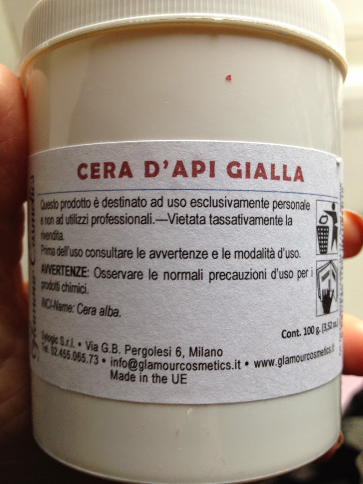 f3fd05e107d79 Ho quindi deciso di acquistare sul sito di Glamour Cosmetics un sito  italiano che vende materie prime certificate prodotte in UE