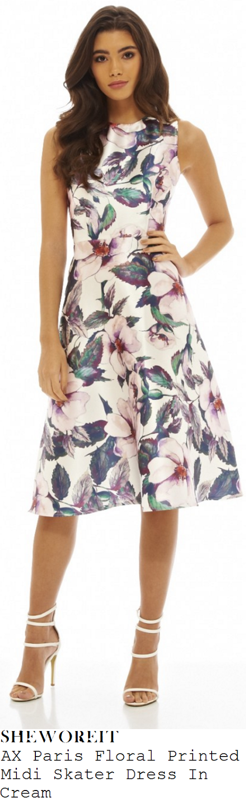vicky-pattison-ax-paris-cream-and-purple-oversized-floral-print-sleeveless-skater-midi-dress