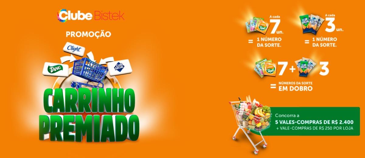 Promoção Carrinho Premiado Bistek Supermercados 2021 - Tang e Club Social