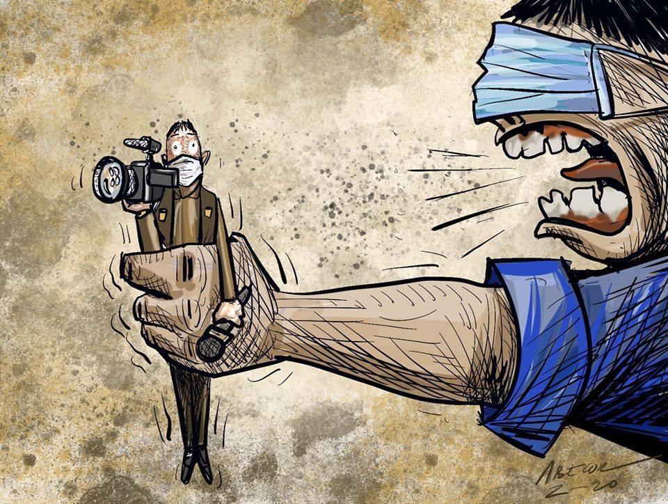 Una ilustración de Abel Bellido denuncia el acoso y los ataques a periodistas durante los días de pandemia / ABECOR