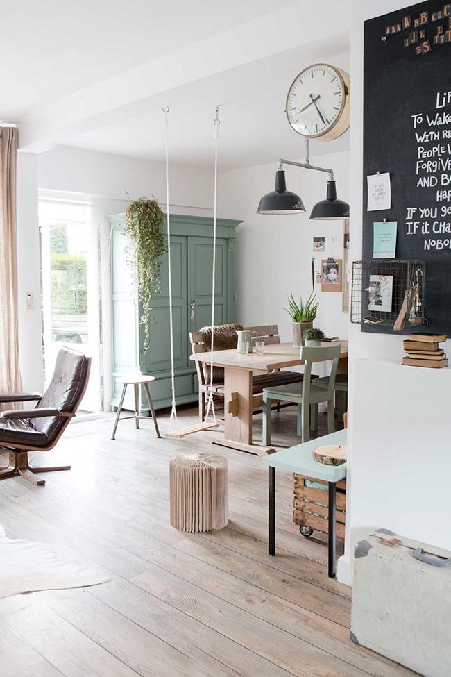 Toda la gama de MINT en una casa escandinava para copiar