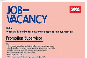Lowongan Kerja Bandung Promotion Supervisor Wadezig