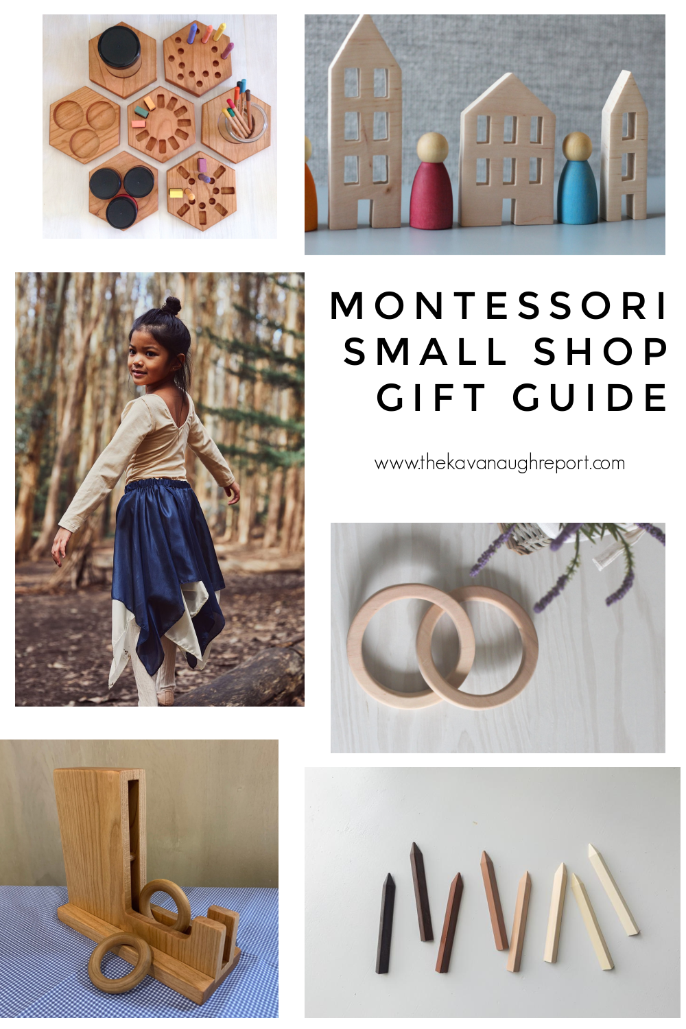 Montessori friendly gift ideas from small shops. These toys are perfect for babies, toddlers, and preschoolers.