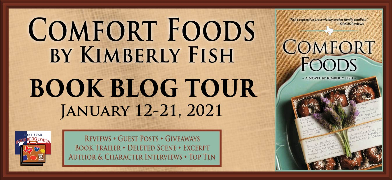 Comfort Foods book blog tour promotion banner