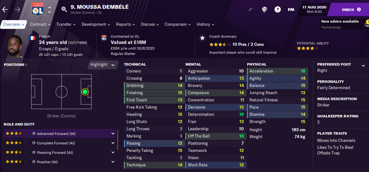 FM21 Moussa Dembele